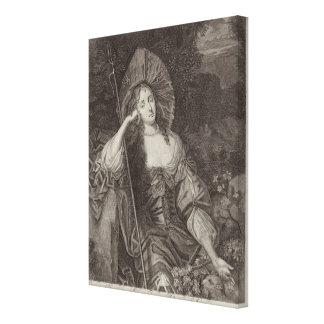 Duquesa de Barbara de Cleaveland (1641-1709) como  Lona Envuelta Para Galerias