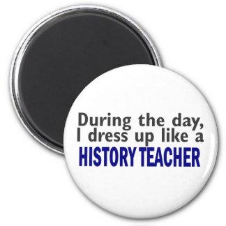 Durante el día (profesor de la historia) imán redondo 5 cm