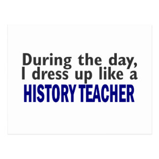 Durante el día (profesor de la historia) postal