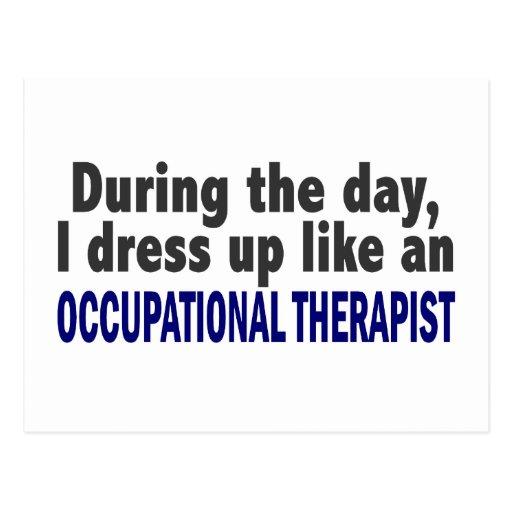 Durante el día visto para arriba al terapeuta prof postales