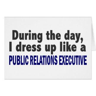 Durante las relaciones públicas del día ejecutivas tarjetón