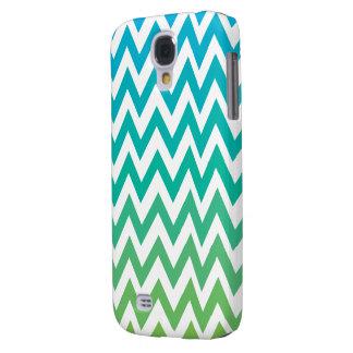 duro vivo de HTC del vintage azulverde del galón Funda Para Galaxy S4