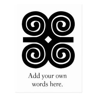 Dwennimmen - símbolo de Adinkra de la fuerza y de Postal