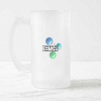 E=mc2 Taza De Cristal Esmerilado