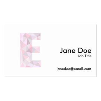 E - Triángulos polivinílicos bajos - gris púrpura Tarjetas De Visita