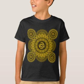 e-uno-círculo-tejado camiseta