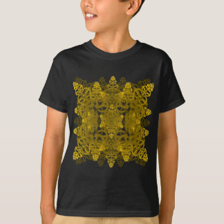 e-uno-espejo-hoja-oro de la letra camiseta