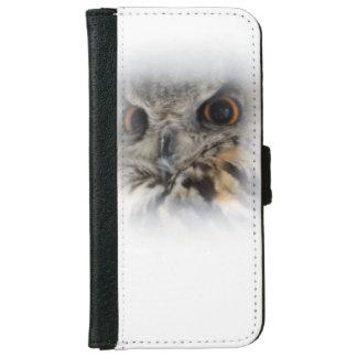 Eagle-búho eurasiático funda cartera para iPhone 6