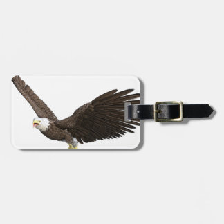 Eagle calvo altísimo etiqueta para maletas