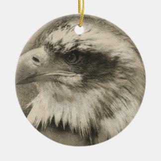 Eagle calvo glorioso Setch Adorno Navideño Redondo De Cerámica