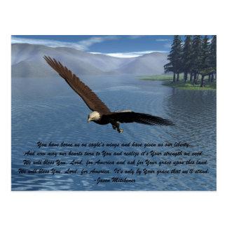 Eagle con el poema tarjetas postales