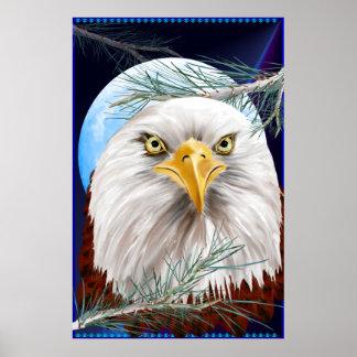 Eagle en el poster grande de los pinos