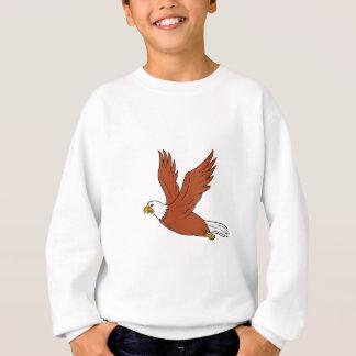 Eagle enojado que vuela el dibujo animado sudadera