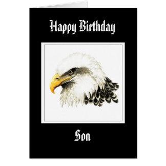Eagle - hijo del cumpleaños, militar divertido tarjetón