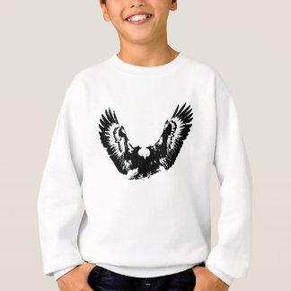 Eagle negro y blanco sudadera