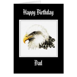 Eagle - papá del cumpleaños, militar divertido tarjeta de felicitación