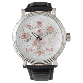 Eagle polaco floral reloj de mano