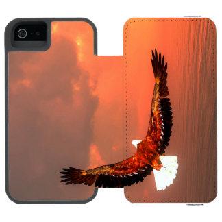 Eagle que vuela - 3D rinden Funda Cartera Para iPhone 5 Watson