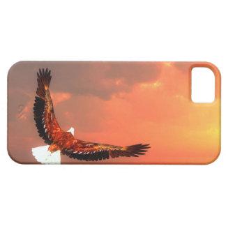 Eagle que vuela al sol - 3D rinden Funda Para iPhone SE/5/5s