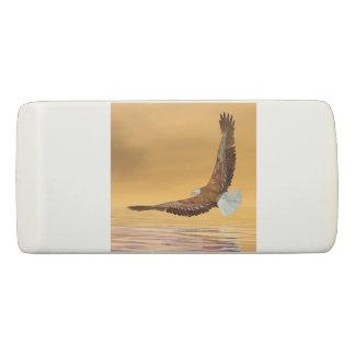 Eagle que vuela al sol - 3D rinden Goma De Borrar