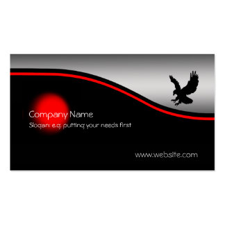 Eagle Swooping, punto rojo, metálico-efecto Tarjetas De Visita