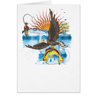 Eagle-Thief-3-No-Text Tarjeta De Felicitación