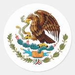Eagle y emblema de México de la serpiente para los Etiqueta Redonda