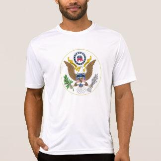 Eagle y sello republicano del elefante gran camiseta