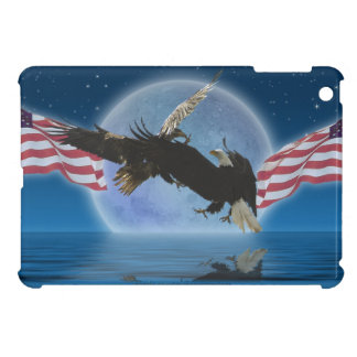 Eagles calvo con la bandera de los E.E.U.U. que lu iPad Mini Cobertura