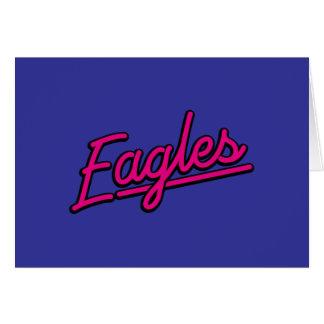 Eagles en magenta tarjetón