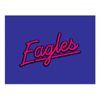 Eagles en magenta postal