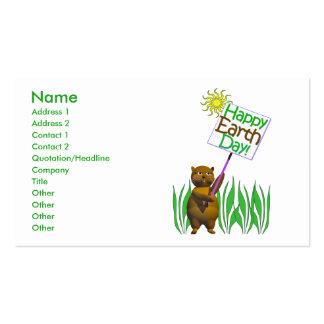 Earthday feliz Groundhog - negocio Tarjetas De Visita