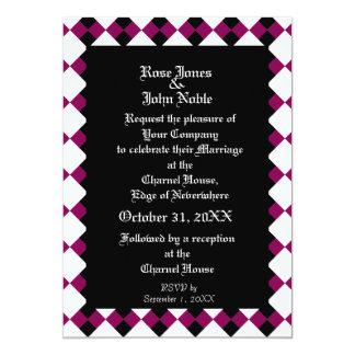 Ébano XI de Argyll (Rojo-Violeta) que casa la Invitación 12,7 X 17,8 Cm