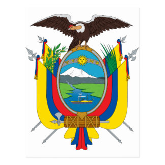 EC de la bandera de Ecuador Postal