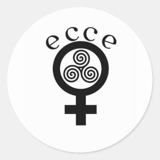 Ecce Femina Pegatina Redonda