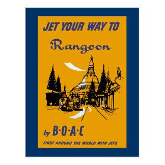 Echa en chorro su manera a Rangoon Postal