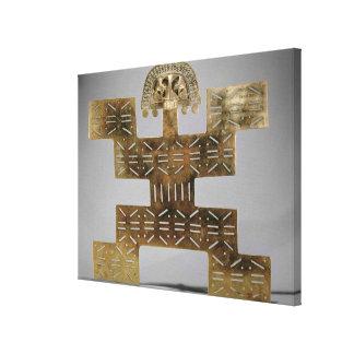 Eche Tumbaga pectoral, de Huaca del Dragon Impresión En Lienzo