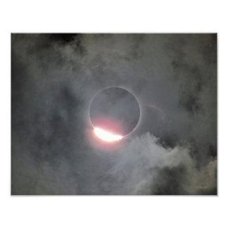 Eclipse 2017 con la impresión de la foto del