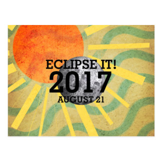 Eclipse de la CAMISETA él 2017 Postal