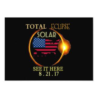 Eclipse solar fiesta tarjetas totales de la