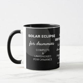 Eclipse solar para el personalizable divertido de taza