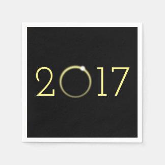 Eclipse solar total 2017 servilletas de papel