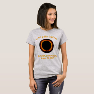 Eclipse solar total (Charleston, Carolina del Sur) Camiseta
