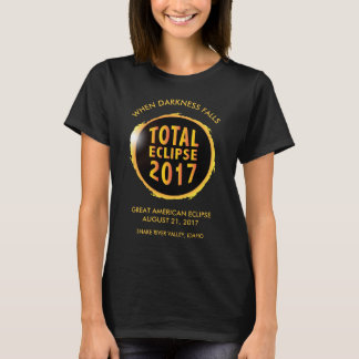 Eclipse solar total de 2017 camiseta
