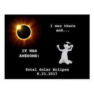 ¡Eclipse solar total - estaba allí! - Postal