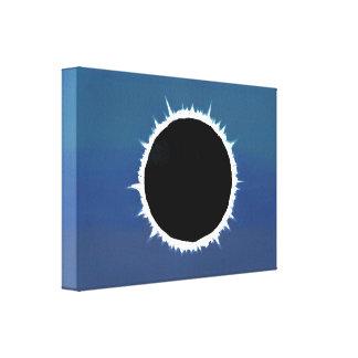 Eclipse solar total - impresión de la lona