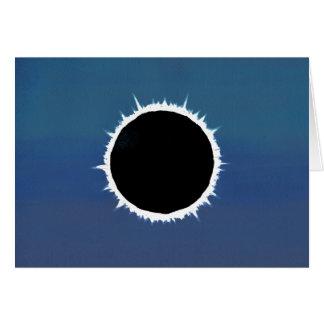Eclipse solar total - tarjeta de felicitación