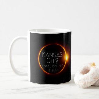 Eclipse total de Kansas City grande Taza De Café