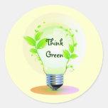 Eco piensa verde pegatinas