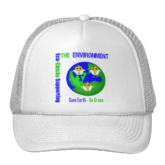 Eco-Polluelos que apoyan el ambiente Gorra